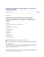 Interprofessional simulation learning with nursing and pharmacy students: a qualitative study