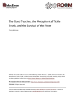 The good teacher, the metaphorical tickle trunk, and the survival of the fitter
