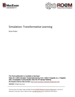 Simulation: transformative learning