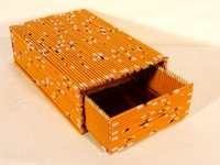 Box made of pencils