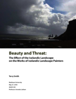 Beauty and threat: the effect of the Icelandic landscape on the works of Icelandic landscape painters