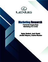 Lexus marketing research