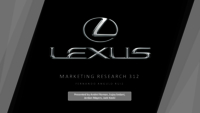 Lexus marketing research 312