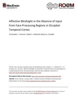 Affective blindsight in the absence of input from face processing regions in occipital-temporal cortex