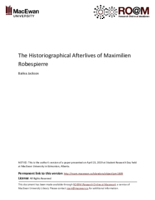 The historiographical afterlives of Maximilien Robespierre