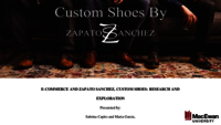E-commerce and Zapato Sanchez, custom shoes: research and exploration
