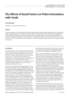 The effects of social factors on police interactions with youth