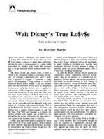 Walt Disney's true lo$v$e: tales of dizzying misogyny
