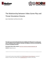 The relationship between video game play and threat simulation dreams
