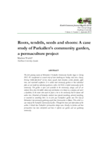 Roots, tendrils, seeds and shoots: a case study of Parkallen's community garden, a permaculture project