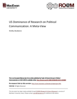 US dominance of research on political communication: a meta-view