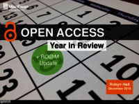 Open access year in review and RO@M update