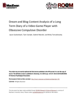 Dream and blog content analysis of a long term diary of a video game player with obsessive compulsive disorder