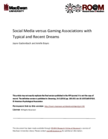Social media versus gaming associations with typical and recent dreams