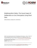 Mobilizing mini-publics: the causal impact of deliberation on civic participation using panel data