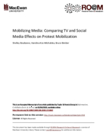 Mobilizing media: comparing TV and social media effects on protest mobilization