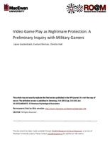 Video game play as nightmare protection: a preliminary inquiry with military gamers