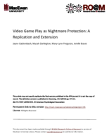 Video game play as nightmare protection: a replication and extension