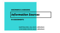 Describing and assessing information sources in assignments