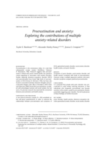 Procrastination and anxiety: exploring the contributions of multiple anxiety-related disorders