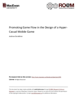 Promoting game flow in the design of a hyper-casual mobile game