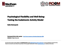 Psychological flexibility and well-being: testing the Eudaimonic Activity Model