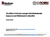 The effect of chronic lysergic acid diethylamide exposure and withdrawal in zebrafish