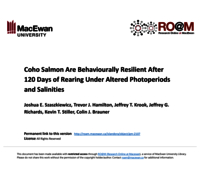 Coho salmon are behaviourally resilient after 120 days of rearing under altered photoperiods and salinities