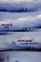 They used our sweet, sweet grass to smudge away hurt