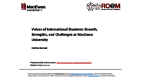 Voices of international students: growth, strengths, and challenges at MacEwan University
