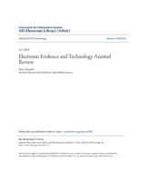 Electronic evidence and technology-assisted review