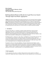 Refining ranked retrieval results for legal discovery search through supervised rank aggregation