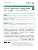 Exploring metacognitions in health anxiety and chronic pain: a cross-sectional survey
