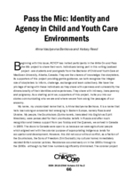 Pass the mic: identity and agency in child and youth care environments
