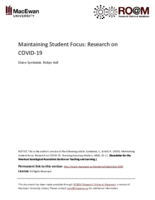 Maintaining student focus: research on COVID-19