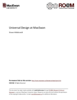 Universal design at MacEwan