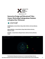 Interaction design and educational video games: motivating undergraduate students to explore new territories