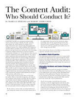 The content audit: who should conduct it?