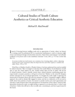 Cultural studies of youth culture: aesthetics as critical aesthetic education