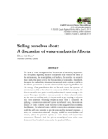 Selling ourselves short: a discussion of water-markets in Alberta