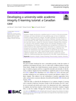 Developing a university-wide academic integrity E-learning tutorial: a Canadian case