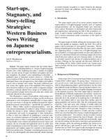 Start-ups, stagnancy, and storytelling strategies: Anglo-American business news writing on Japanese entrepreneurialism