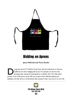 Bidding on aprons