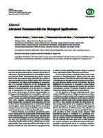 Editorial: Advanced nanomaterials for biological applications