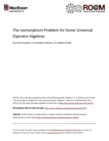 The isomorphism problem for some universal operator algebras