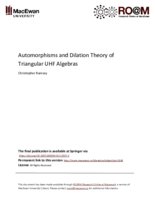 Automorphisms and dilation theory of triangular UHF algebras