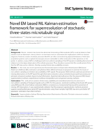 Novel EM based ML Kalman estimation framework for superresolution of stochastic three-states microtubule signal