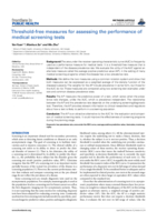 Threshold-free measures for assessing the performance of medical screening tests