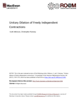 Unitary dilation of freely independent contractions
