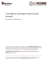 Limit algebras and integer-valued cocycles, revisited